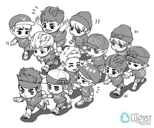 Squishy-Exo Fanfic : EXO chibi love chibi art. It makes them look so squishy and cute! EXO Pinterest Wolves ...