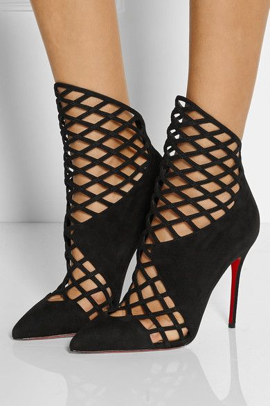 christian louboutin wedge ankle boots
