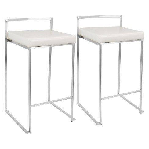 Fuji 27 Counter Stool Steel Lumisource Counter Stools Bar