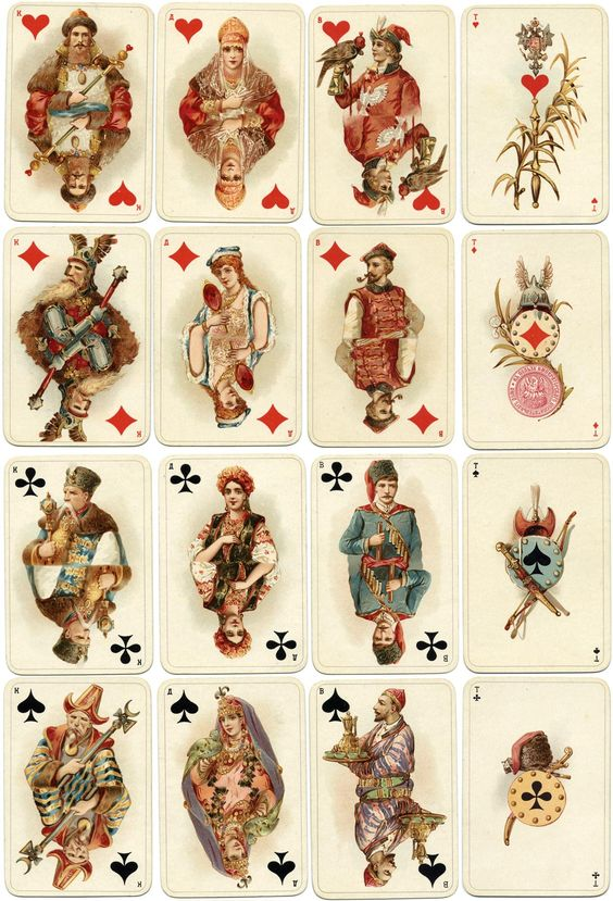 Historical playing cards, 1897 - The World of Playing Cards: