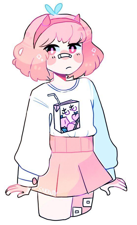 Pink Girl With Band Aides Cartoon Art Styles Cute Art Cute Art Styles
