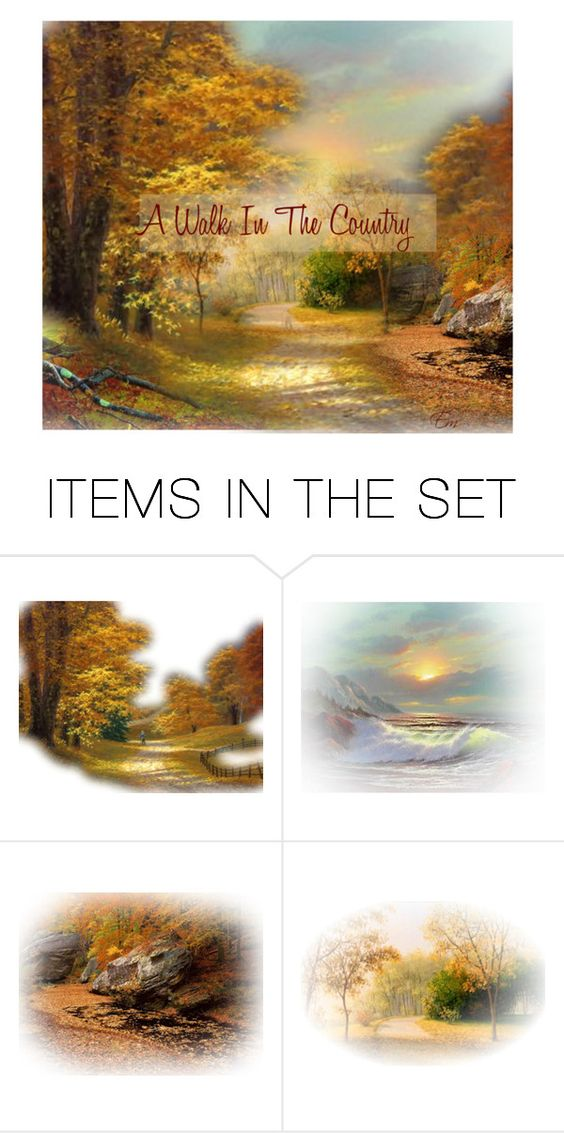 """""""A Walk In The Country"""" by emjule ❤ liked on Polyvore featuring art and country"""