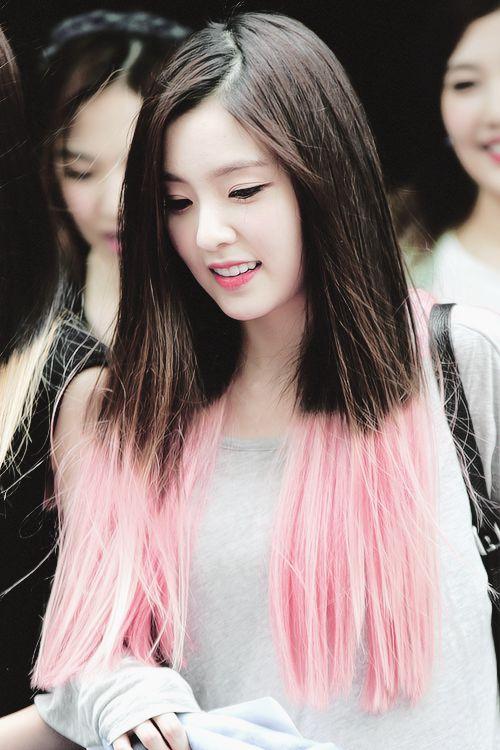 Kpop Pink Dip Dye And Her Hair On Pinterest