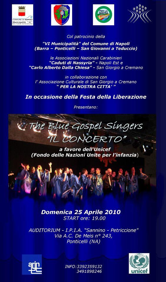 Manifesto per Concerto di Coro Gospel