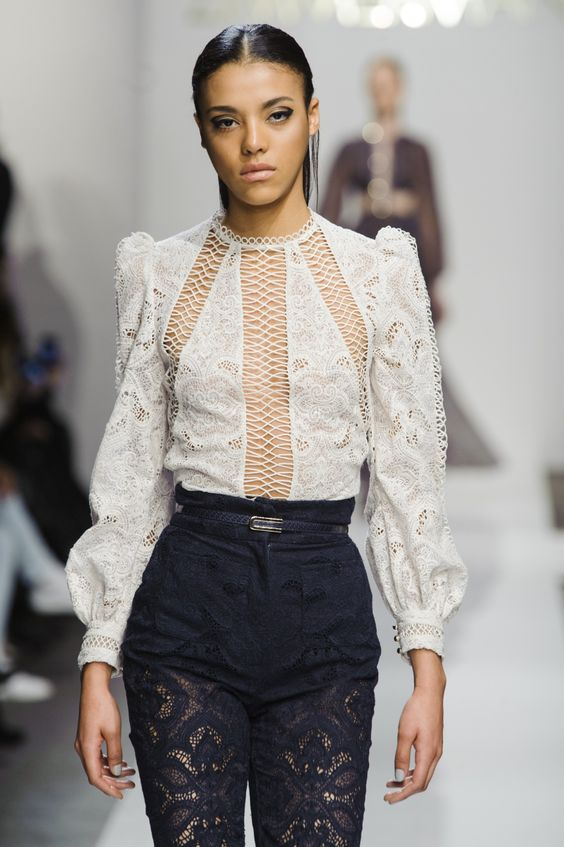 wgsn:  Australian #designer @ZIMMERMANN created this blouse with every #fabric technique in the books from cutouts to burnouts for #NYFW #AW15