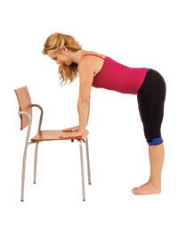 Denise Austin's 15-Minute Chair Workout ~ with my bad knees, I can't do lunges, deep knee bends or kneeling of any kind but I can do these exercises. Even walking great lengths irritates the bone spurs.