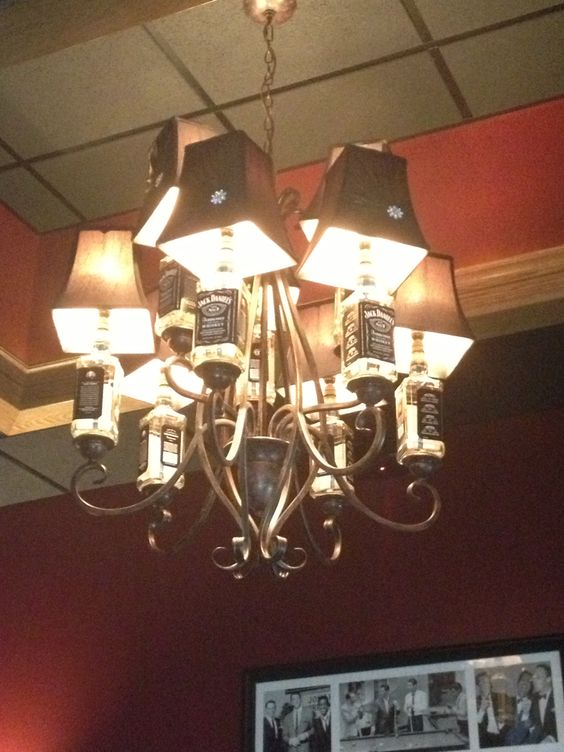 jack daniels chandelier projet pinterest bottle