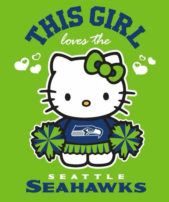 Hello Kitty Says It For Me Quot I Heart The Seahawks