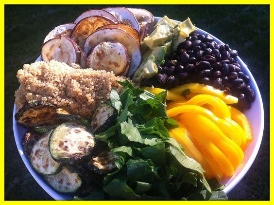 Grilled Veg & Quinoa Salad