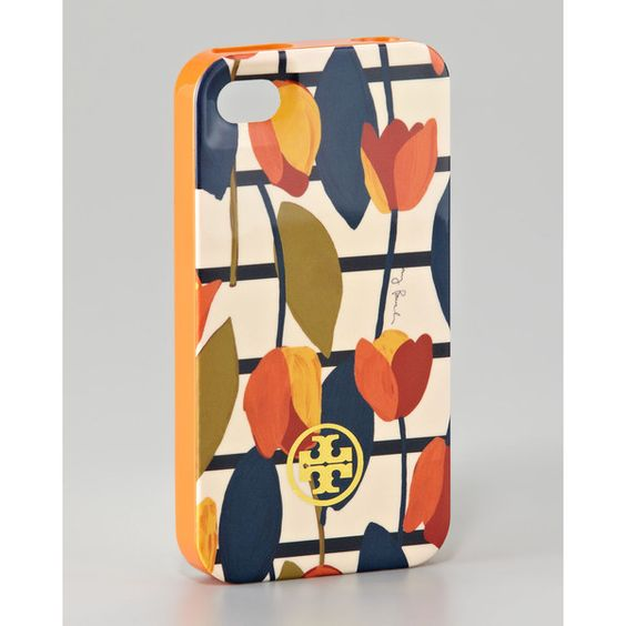 Tory Burch Hard-Shell Logo-Print iPhone 4 Case | Iphone - print ...