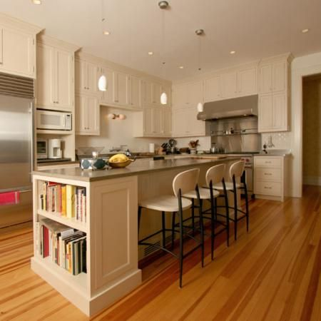 Kitchen Island Love The Book Shelf On The End House