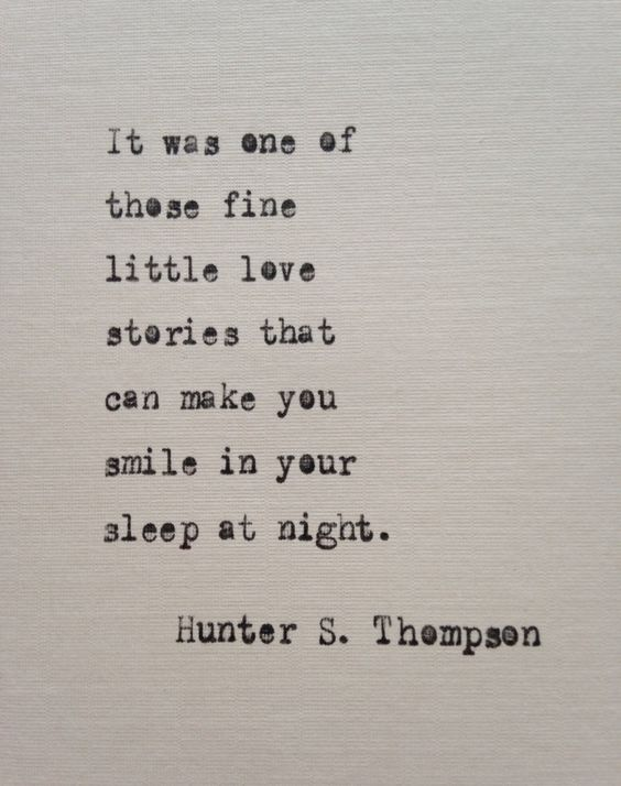 Hunter S. Thompson quote hand typed on antique typewriter
