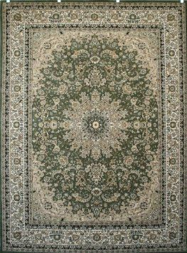 Amazon.com: Sage Green Traditional Isfahan Wool Persian Area Rugs 5'2 x 7'3: Home & Kitchen