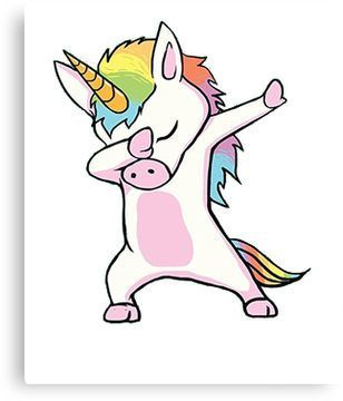 Unicorn Cute Dabbing T Shirt Funny Dab Dance Gift Shirt Canvas Print Avec Images Licorne Drole Images Licorne Kawaii Licorne