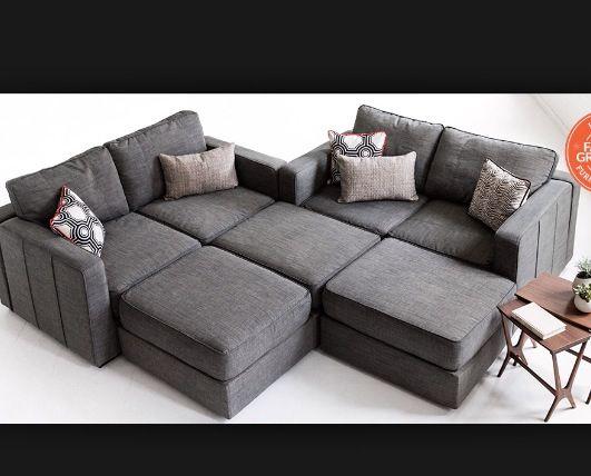 Sofa/Loveseat With Amira Purple Tweed Covers | Amazing Modular Furniture | # Lovesac | Lovesac | Pinterest | Modular Furniture, Living Rooms And Room