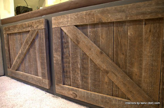 Baby Barn Doors Pallet Wood Cabinets And Loft Room