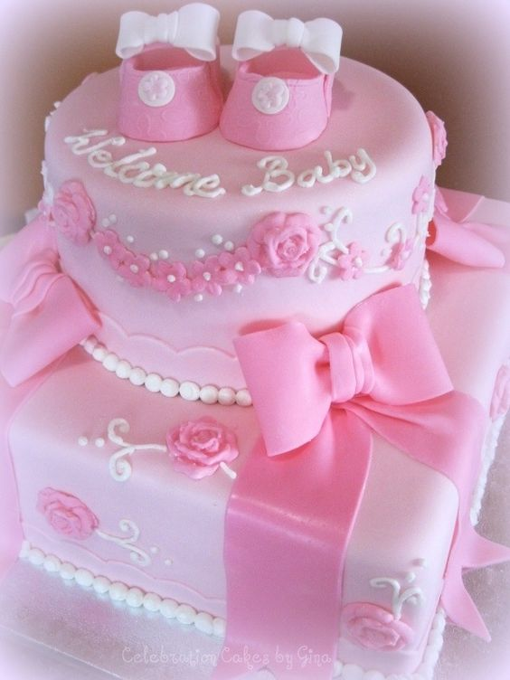 Welcome Baby Cake Decoration : Welcome baby girls, Baby girl cakes and Girl cakes on ...