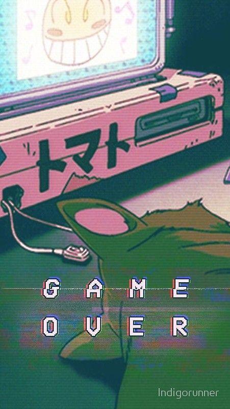 Aesthetic Game Over Poster By Indigorunner Vaporwave Wallpaper Tumblr Iphone Wallpaper Anime Wallpaper