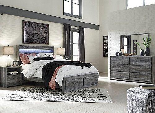 Calypso King Storage Bed King Bedroom Sets Grey Bedroom