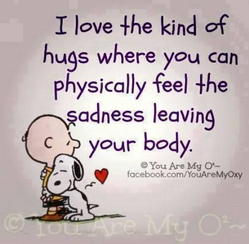 Who loves hugs and cuddles?  Don't forget to hug someone today!