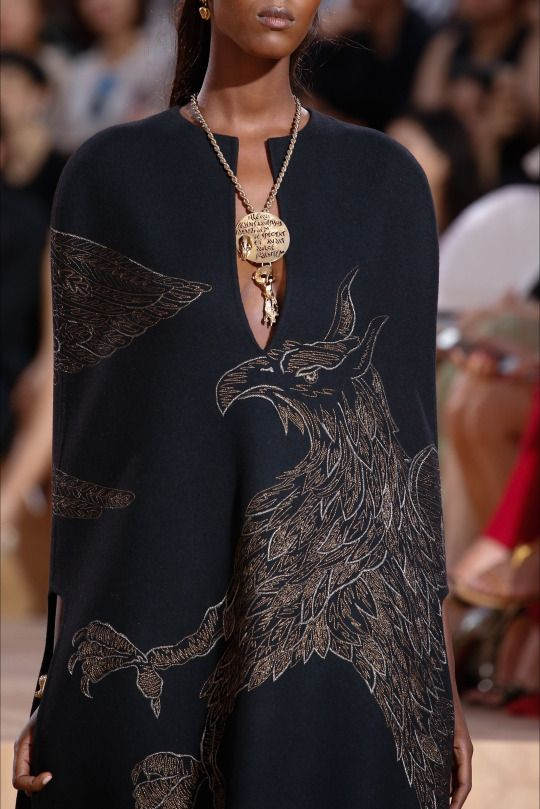 Valentino Haute Couture Fall 2015. Why do I not have a garment with a griffin on it in my closet?