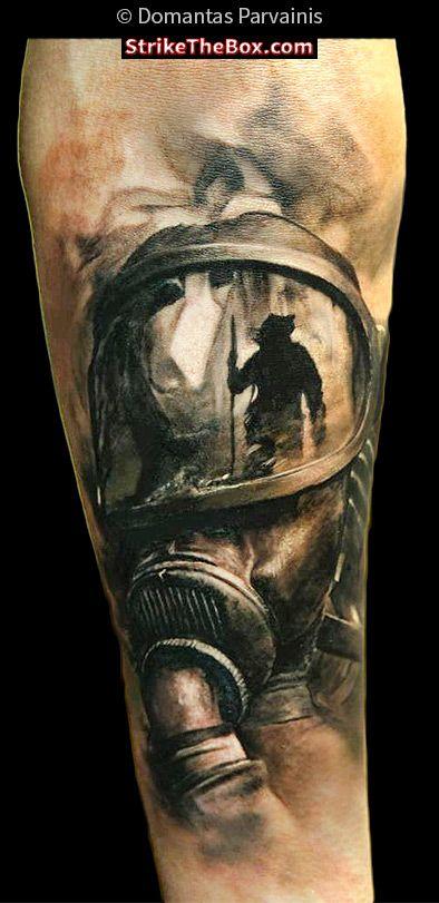 strikethebox.com firefighter tattoo by Domantas Parvainis