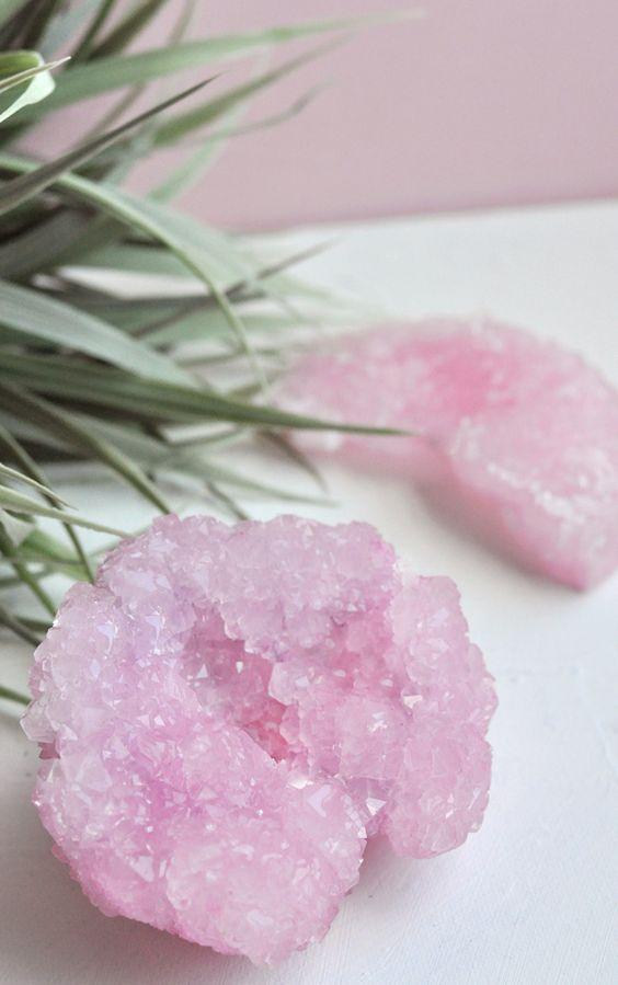 How to make Rose Quartz borax crystals