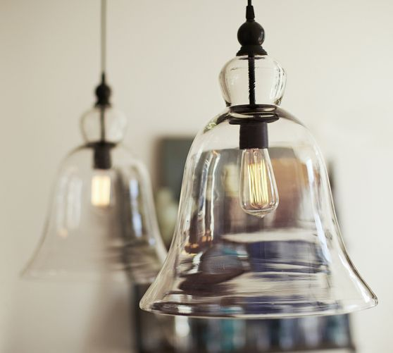Rustic Glass Pendant - Large | Pottery Barn just had these installed in my house and love love love them!