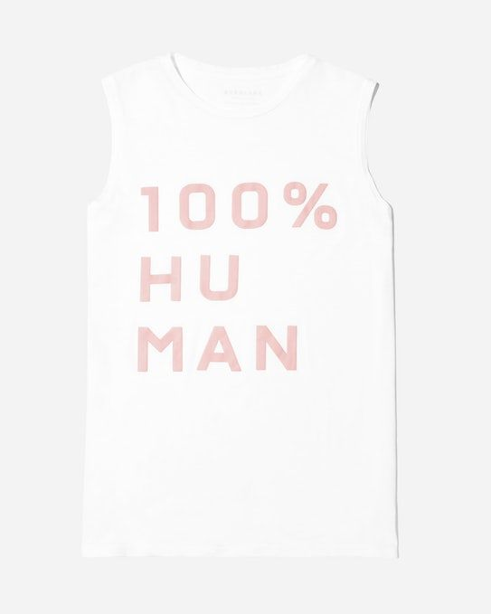 The Human Woman Muscle Tank in Large Print - Everlane