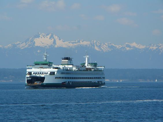Ferry coming into Seattle
