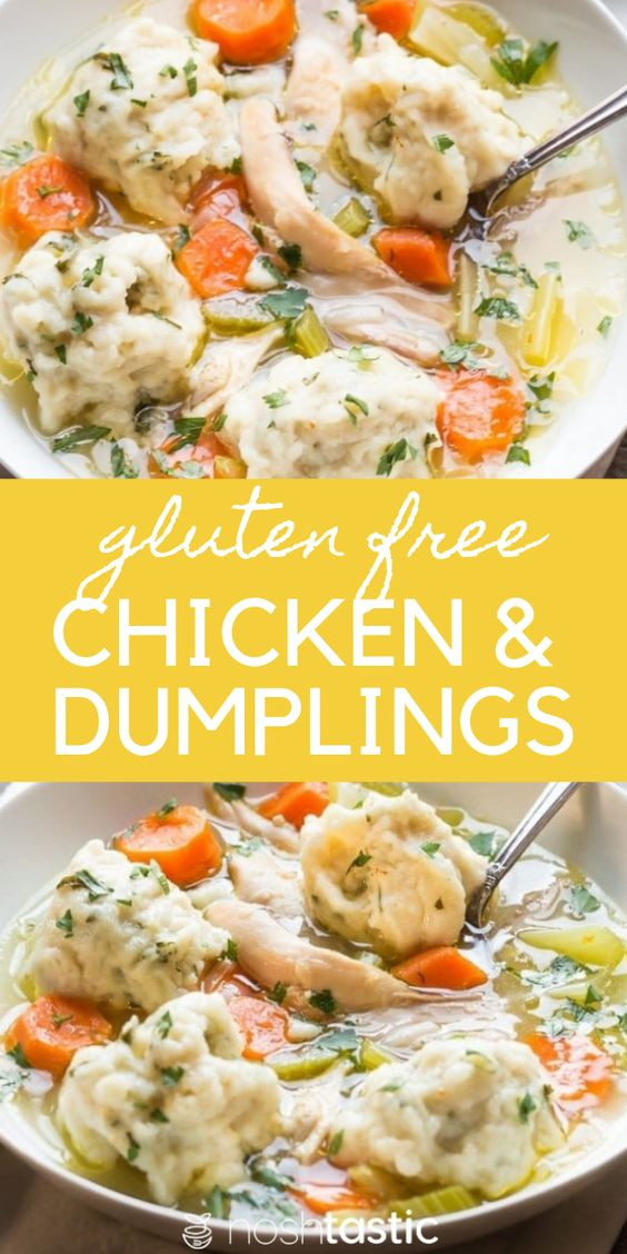 Gluten Free Chicken & Dumplings