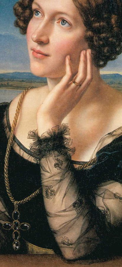 Portrait of the Artist's Wife Wilhelmina (c.1828), Carl Joseph Begas (1794-1854):