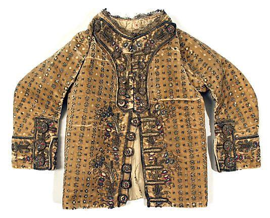 Boy's Coat, 1784-85, Spanish, silk, metal. (c) Metropolitan Museum of Art