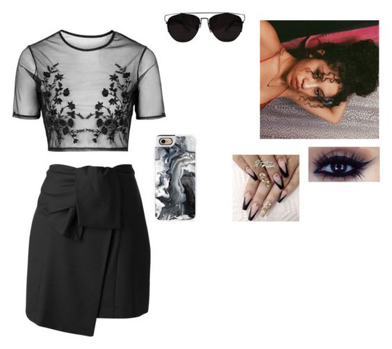 """✖️"" by larauknow ❤ liked on Polyvore featuring Topshop, Kenzo, Casetify and Retrò"