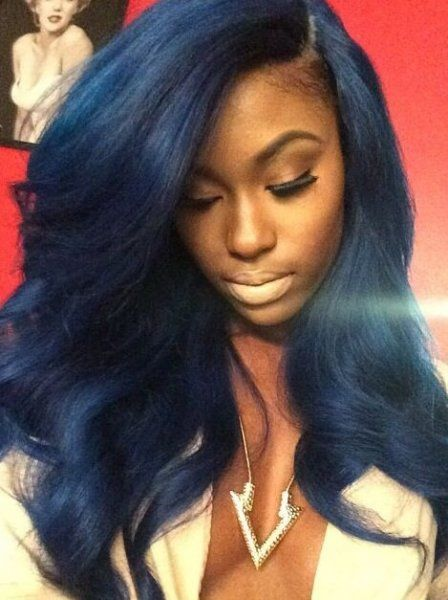 Awe Inspiring Black Women With Blue Hair Styles Hair Extension Care And Hairstyles For Women Draintrainus