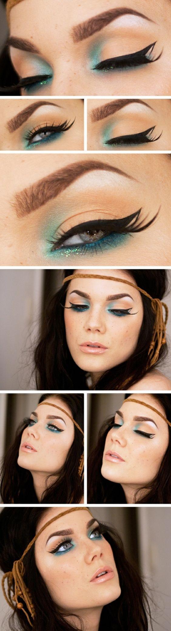 Maquillage de soirée intéressant