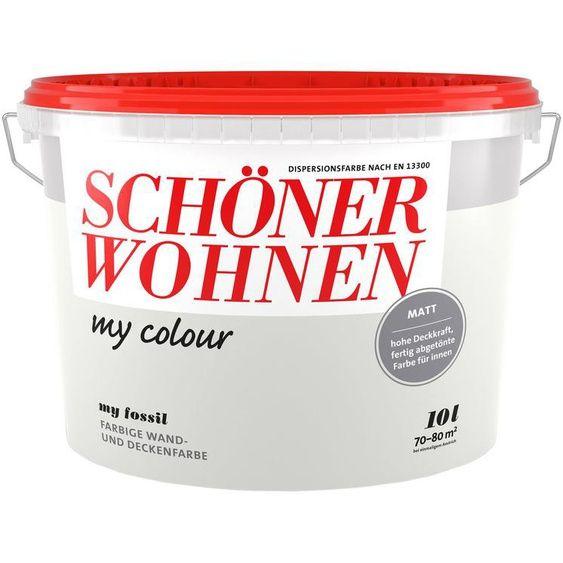 Schoner Wohnen Farbe Wand Und Deckenfarbe My Colour My Fossil Matt 10 L In 2020 Inspiration Sisal Coffee Cans