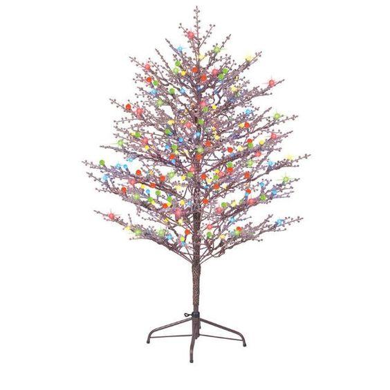 Pre Lit Christmas Branch Tree Indoor Outdoor Artificial Holiday Xmas Decoration Ge Outdoor Christmas Outdoor Christmas Decorations Artificial Christmas Tree