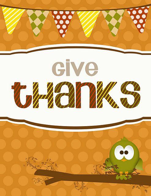 "Cute ""Give Thanks"" printable"