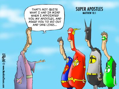 #65 Super Apostles - clearly Jesus wanted them to be The Avengers (as commented by Lauren):