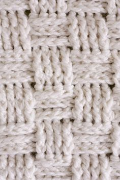 Learn to crochet >> Basket weave baby blanket pattern
