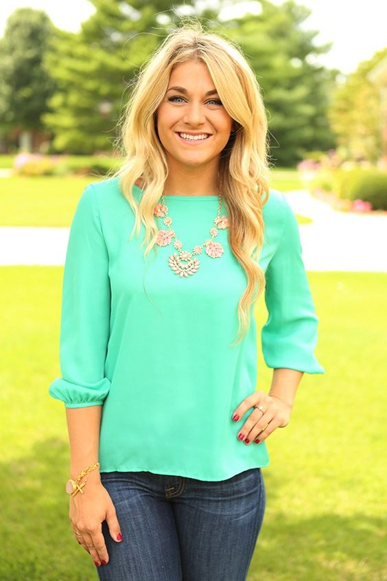 All A-Bow-t Me Top in Aqua - THIS ITEM IS FINAL SALE