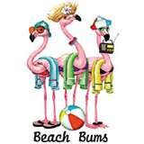 Click here to for Beach Bums-flamingo T-shirt photo & customer reviews