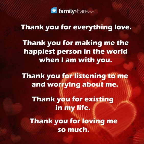 Love Quotes About Life: Thank You For Everything Love. Thank You For Making Me The