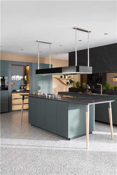 Cuisine Fenix Vert Opaline Bientot En Expo Cuisine Moderne Cuisines Design Interieur Moderne De Cuisine