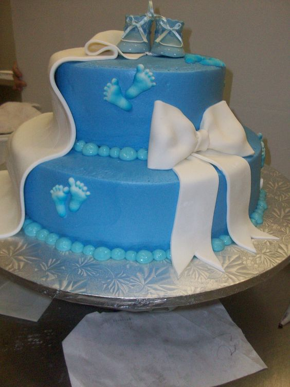 Baby Shower Cake Bow