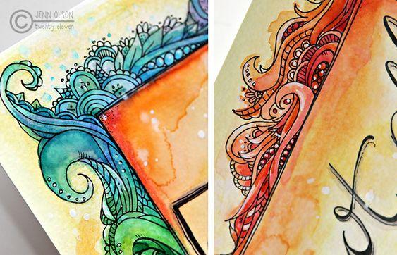 lovely border doodles