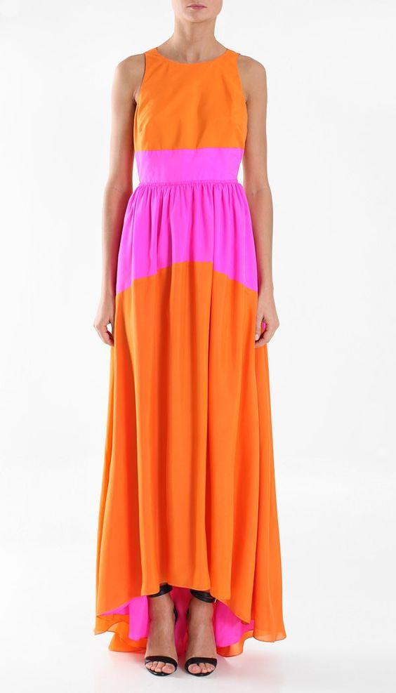 Tibi Silk Long Dress