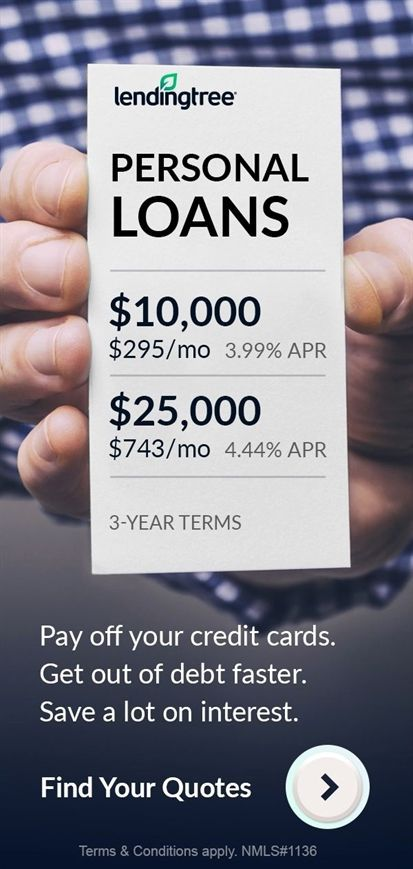 Lendingtreefind Your Best Personal Loan Rate Personal Loans Paying Off Credit Cards Credit Repair Companies