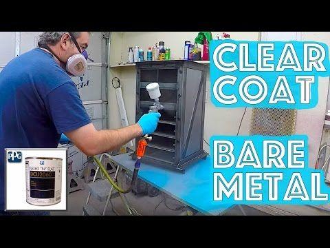 Clear Coat Over Bare Metal 4 Easy Steps Ppg Dcu 2060 Flexed N Flat Matte Satin Clear Coat Youtube Matte Satin Metal Clear Coat